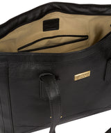 Farah' Black Leather Tote Bag image 4