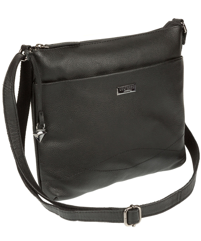 'Gigi' Black Real Leather Cross-Body Bag image 3