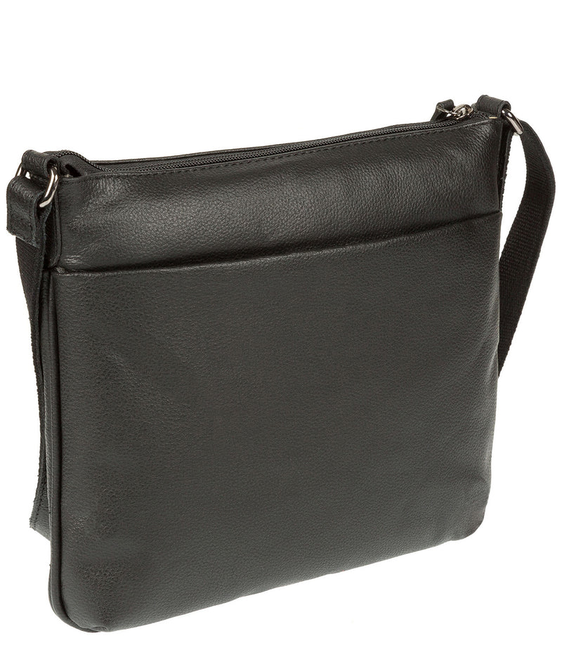 'Gigi' Black Real Leather Cross-Body Bag image 5