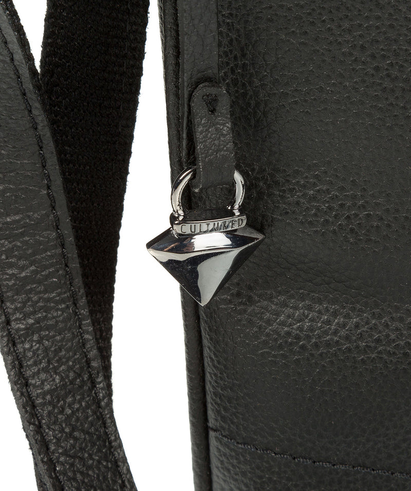 'Gigi' Black Real Leather Cross-Body Bag image 7