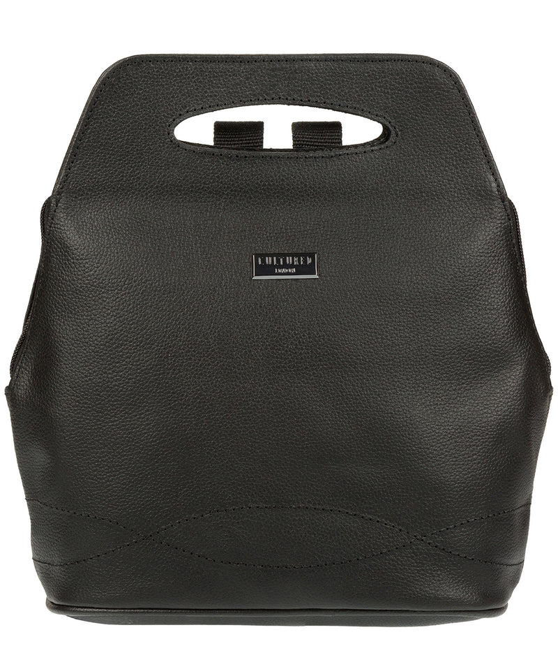'Paige' Black Leather Backpack image 1