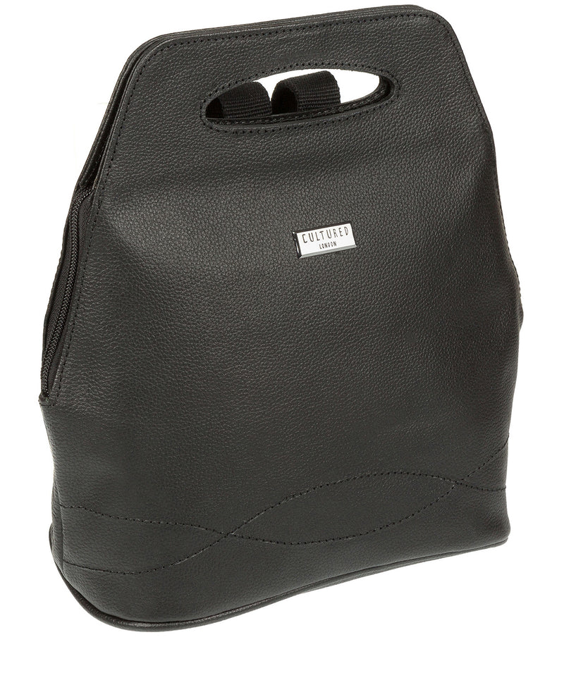 'Paige' Black Leather Backpack image 3