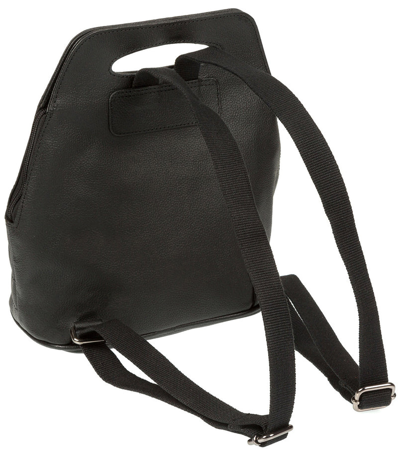'Paige' Black Leather Backpack image 5