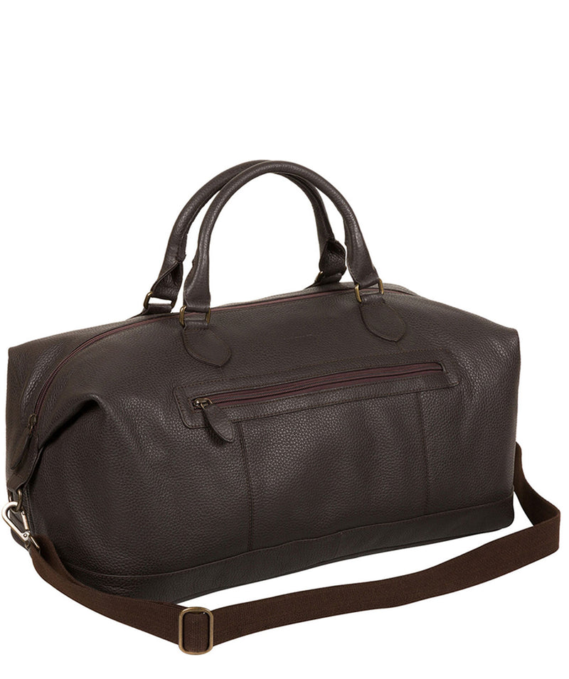 'Toure' Dark Brown Buffalo Leather Holdall