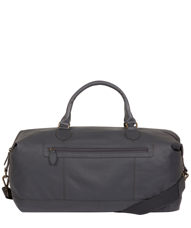 'Toure' Dark Grey Leather Messenger Bag image 1
