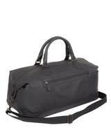 'Toure' Dark Grey Leather Messenger Bag image 3
