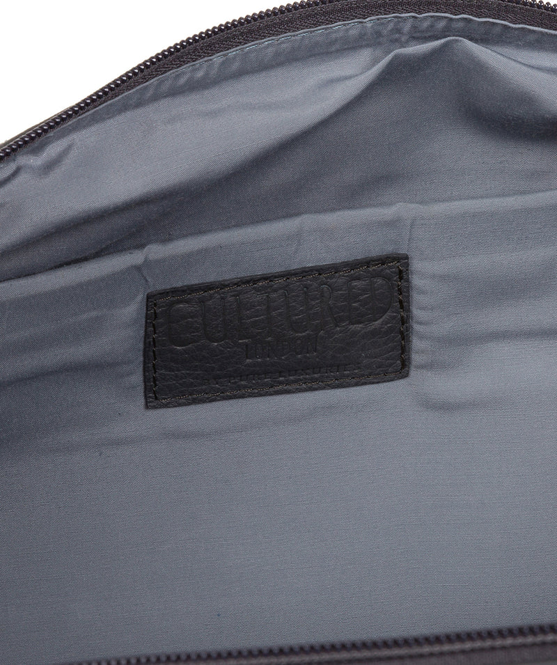 'Toure' Dark Grey Leather Messenger Bag image 4