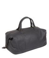 'Toure' Dark Grey Leather Messenger Bag image 5