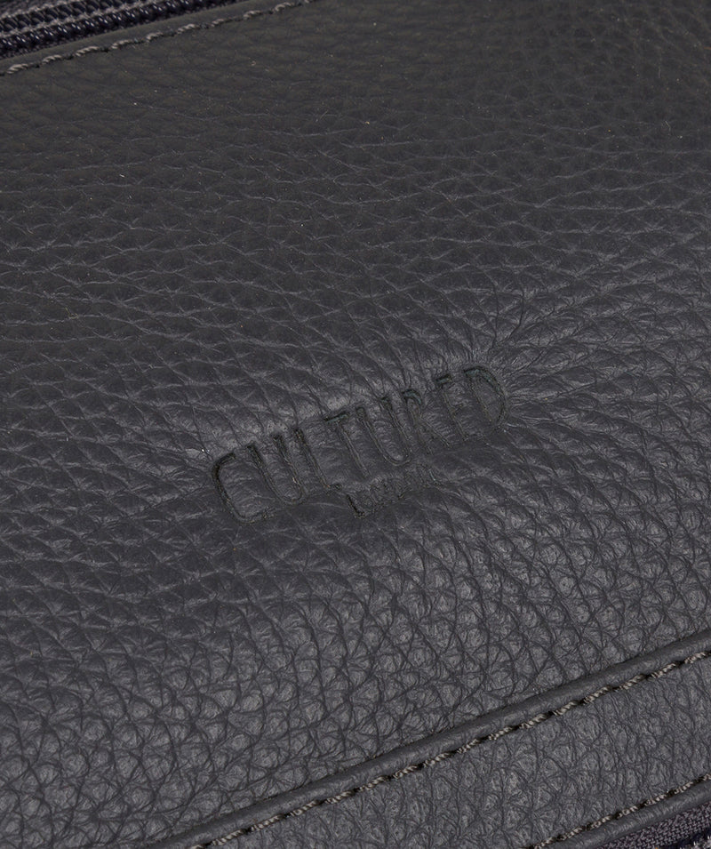 'Toure' Dark Grey Leather Messenger Bag image 6