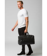 'Expedition' Black Leather Holdall image 7