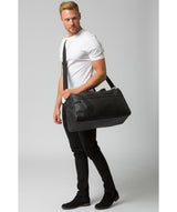 'Expedition' Black Leather Holdall image 2