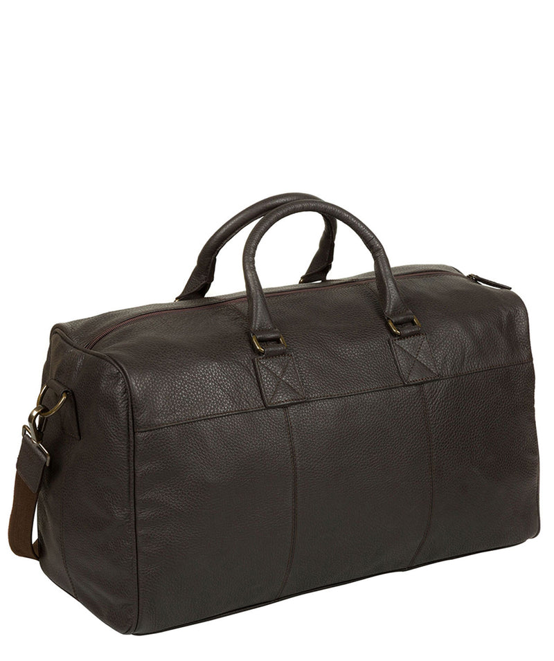 'Expedition' Dark Brown Leather Holdall