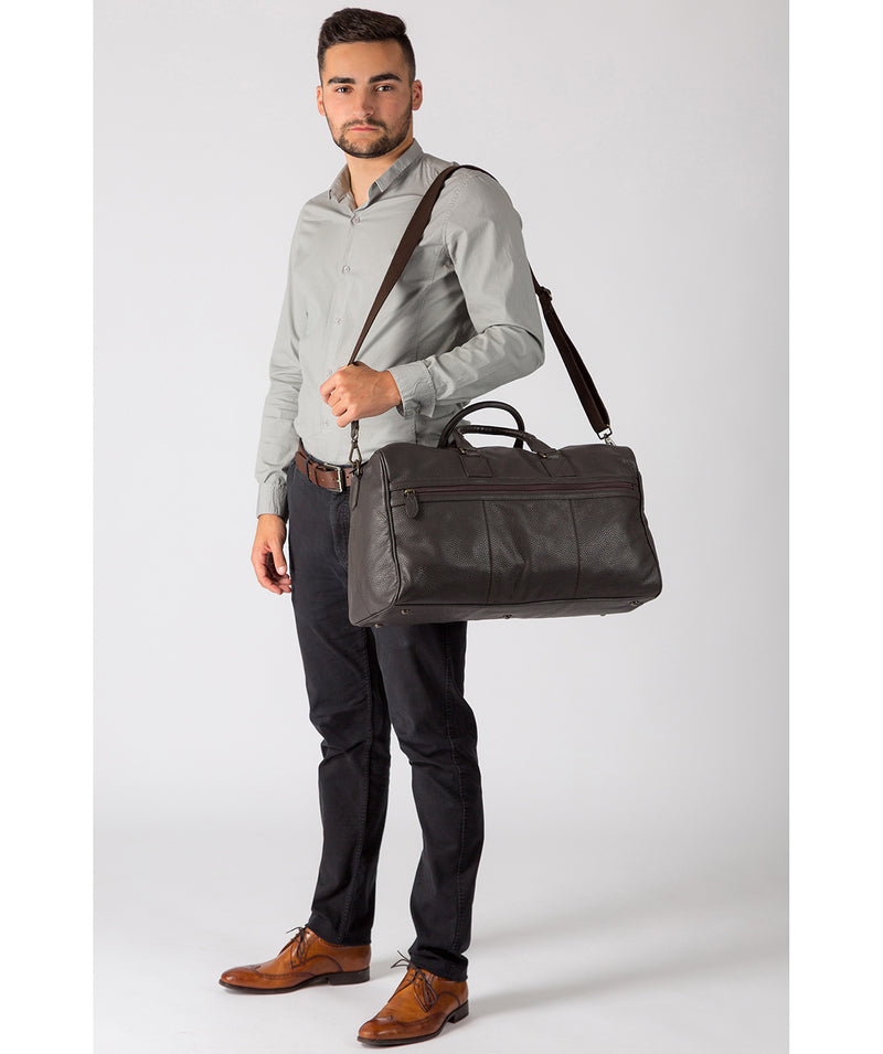 'Expedition' Dark Brown Leather Holdall image 7