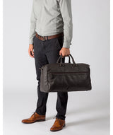 'Expedition' Dark Brown Leather Holdall image 2