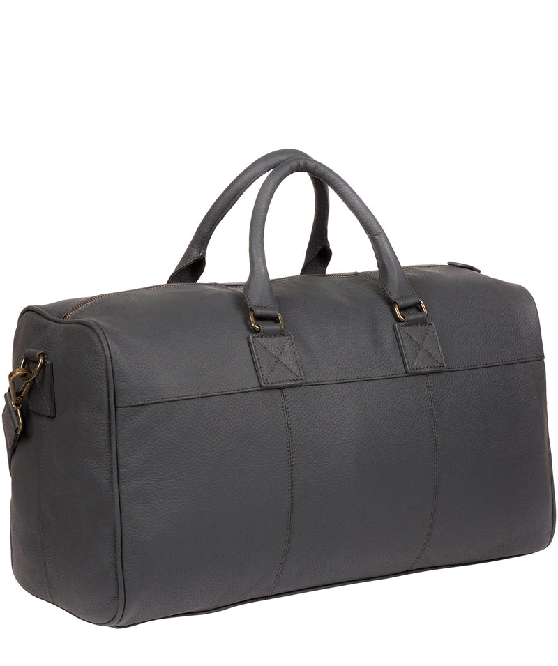 'Expedition' Dark Grey Leather Holdall image 3