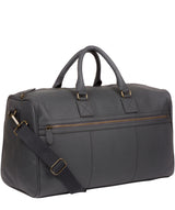 'Expedition' Dark Grey Leather Holdall image 6