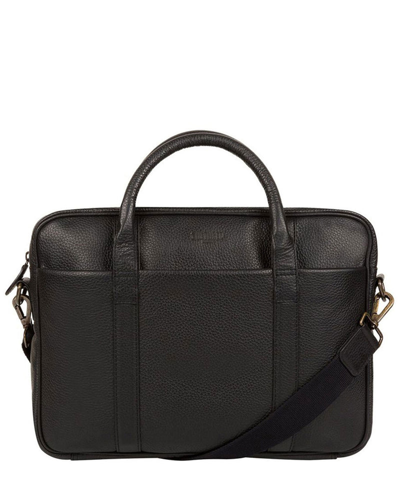 'Assignment' Black Leather Work Bag