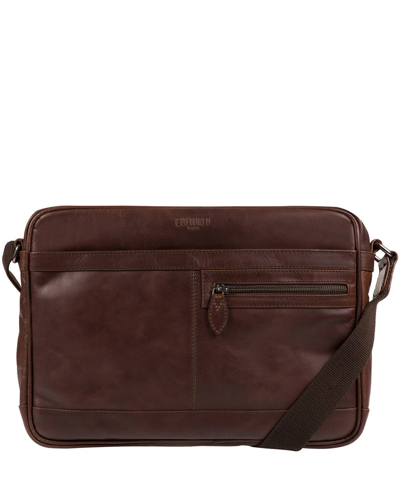 'Trek' Dark Brown Leather Messenger Bag  image 1