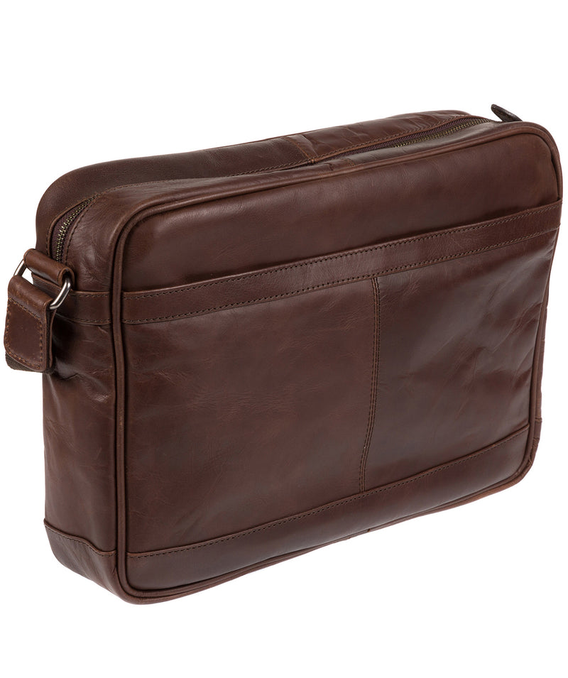 'Trek' Dark Brown Leather Messenger Bag  image 5