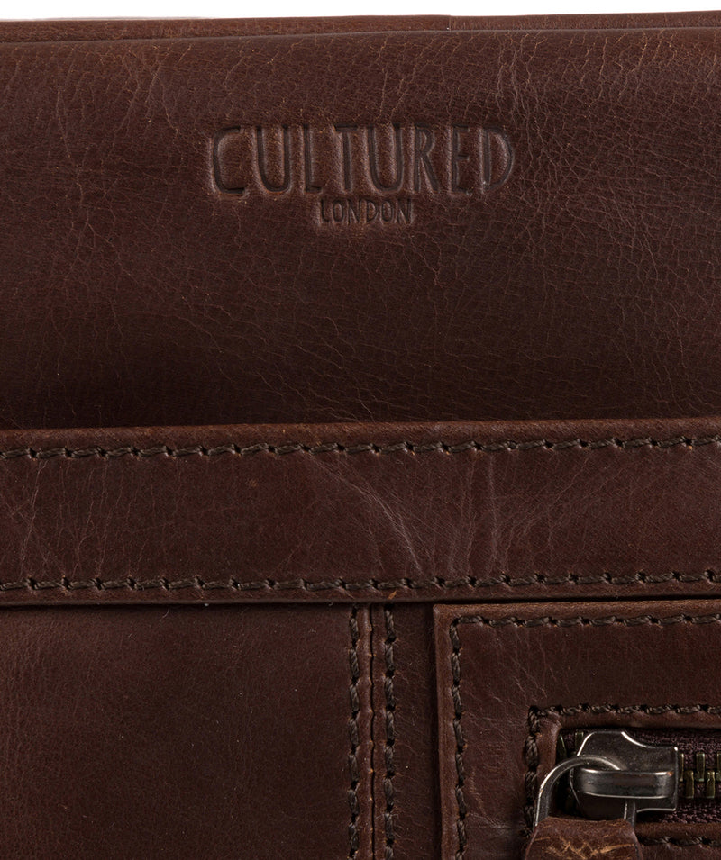 'Trek' Dark Brown Leather Messenger Bag  image 6