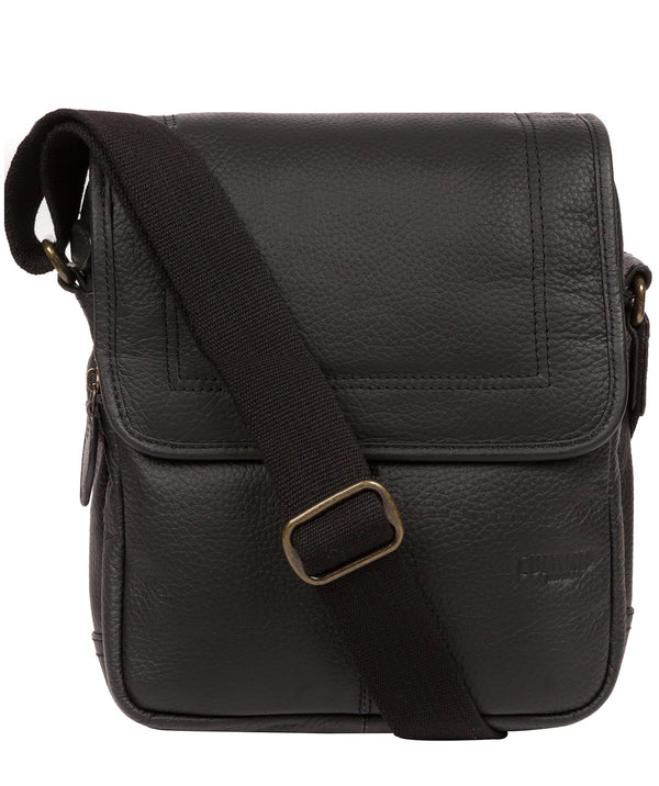 'Dash' Black Leather Cross Body Bag image 1