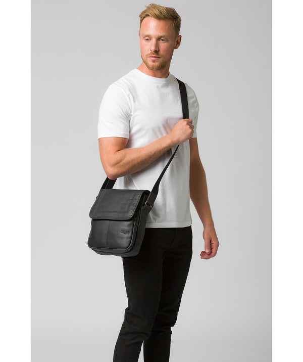 'Dash' Black Leather Cross Body Bag image 2
