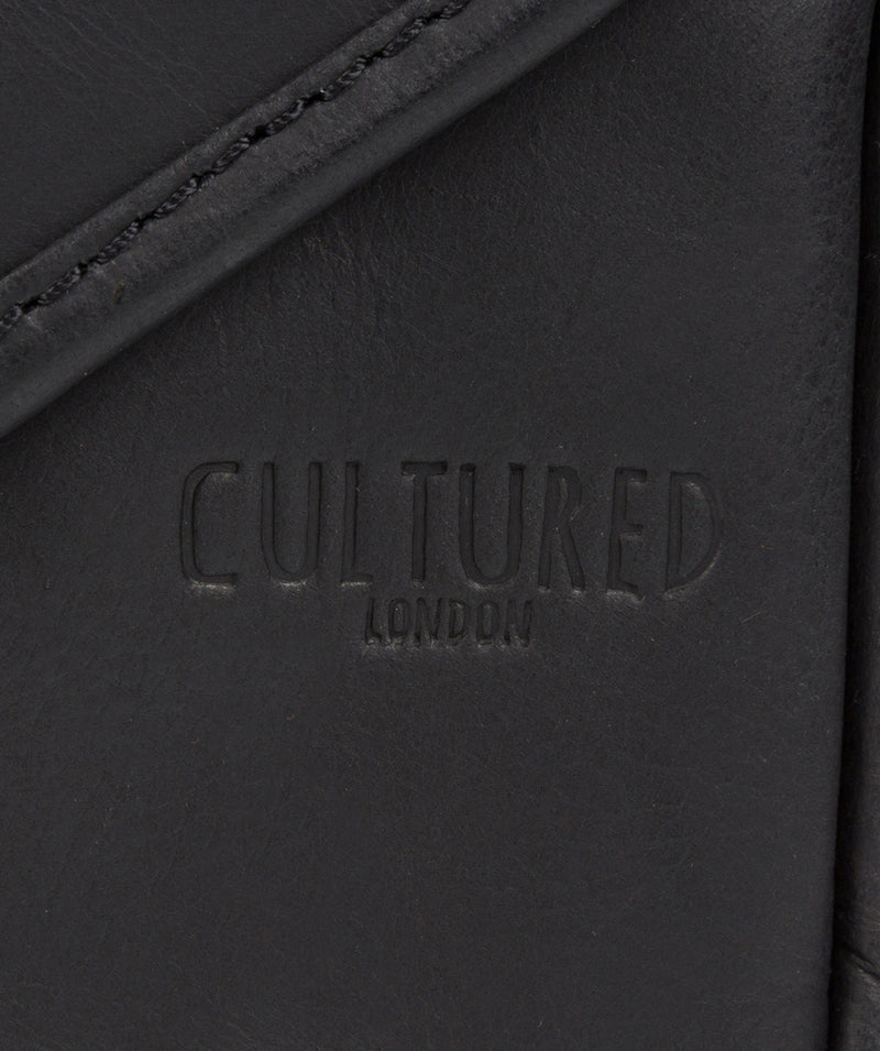 'Trip' Black Small Leather Despatch Bag  image 6