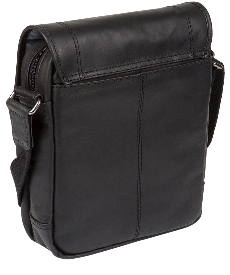 'Trip' Black Small Leather Despatch Bag  image 7
