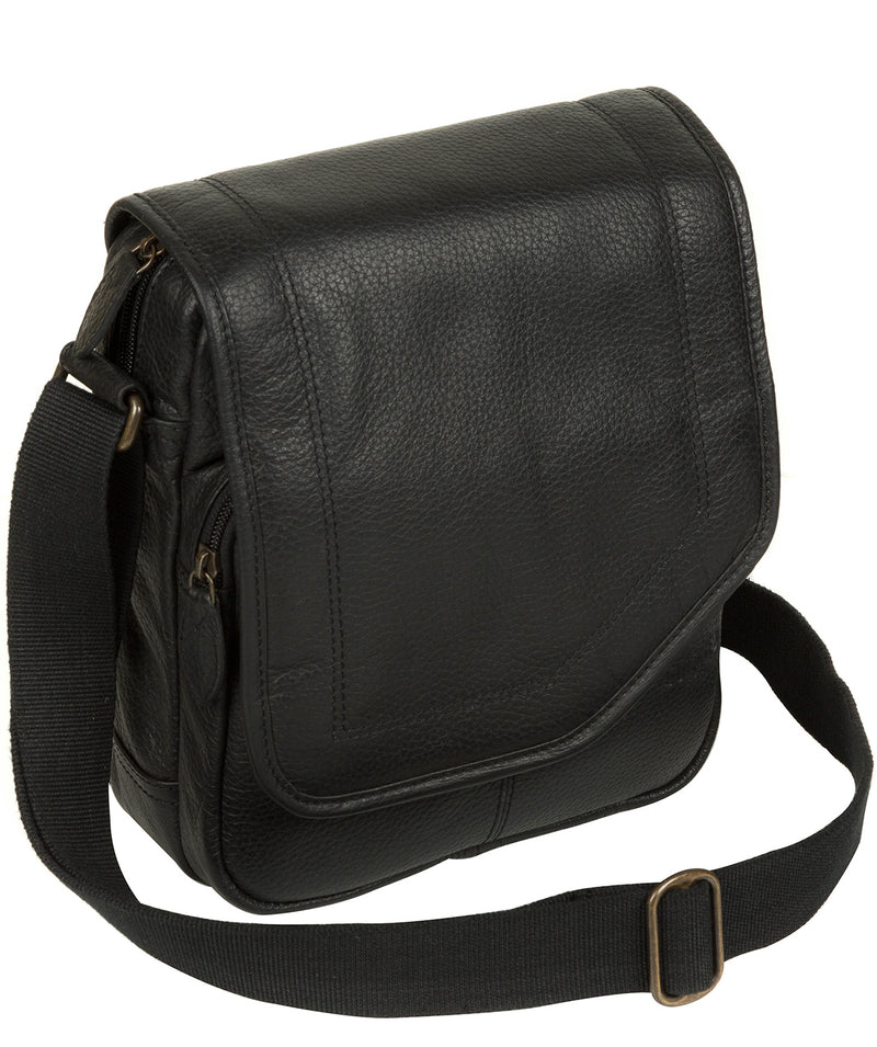 'Trip' Black Small Leather Despatch Bag image 3