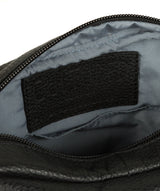 'Trip' Black Small Leather Despatch Bag image 4