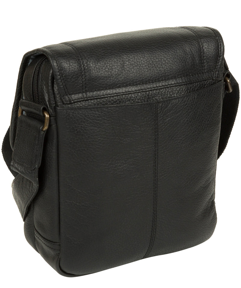 'Trip' Black Small Leather Despatch Bag image 5