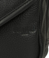 'Trip' Black Small Leather Despatch Bag image 8