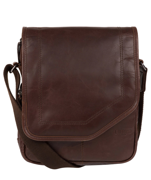 'Trip' Dark Brown Small Leather Despatch Bag image 1