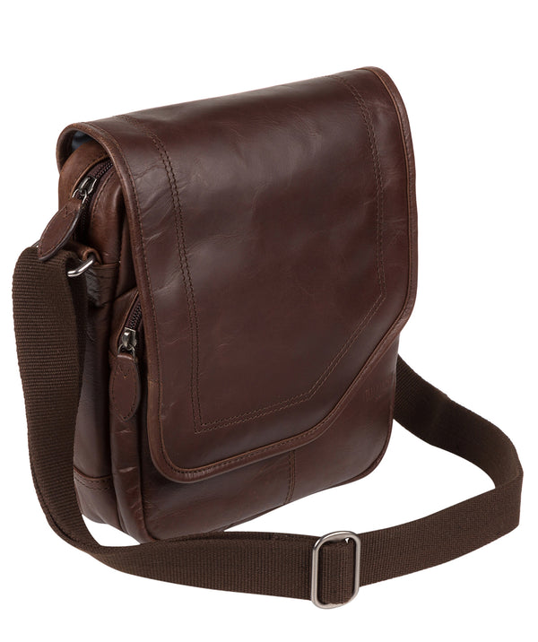 'Trip' Dark Brown Small Leather Despatch Bag image 3
