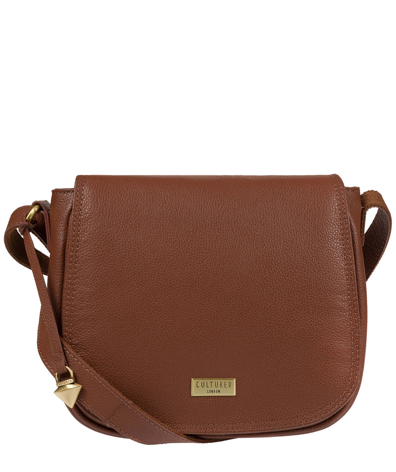 'Pollencia' Sienna Brown Leather Bag image 1