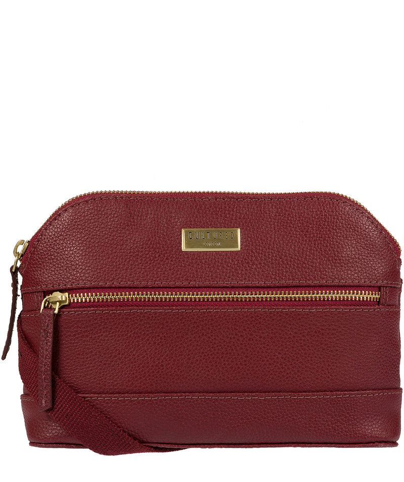 'Parma' Ruby Red Small Leather Cross-Body Bag