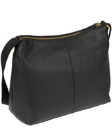 'Hobo' Black Leather Bag