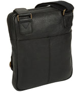 'Hop' Black Leather Despatch Bag image 5