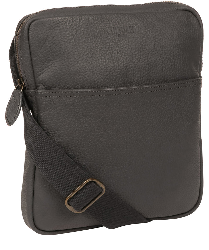 'Hop' Dark Grey Leather Despatch Bag image 6