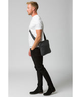 'Hop' Dark Grey Leather Despatch Bag image 2