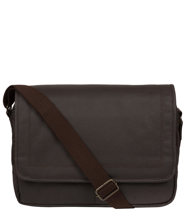 'Impact' Brown Leather Messenger Bag image 1
