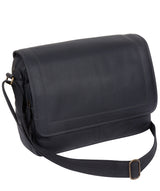 'Impact' Navy Leather Messenger Bag image 3