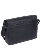 'Impact' Navy Leather Messenger Bag image 7