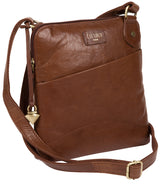 'Abberton' Conker Brown Leather Cross-Body Bag image 3