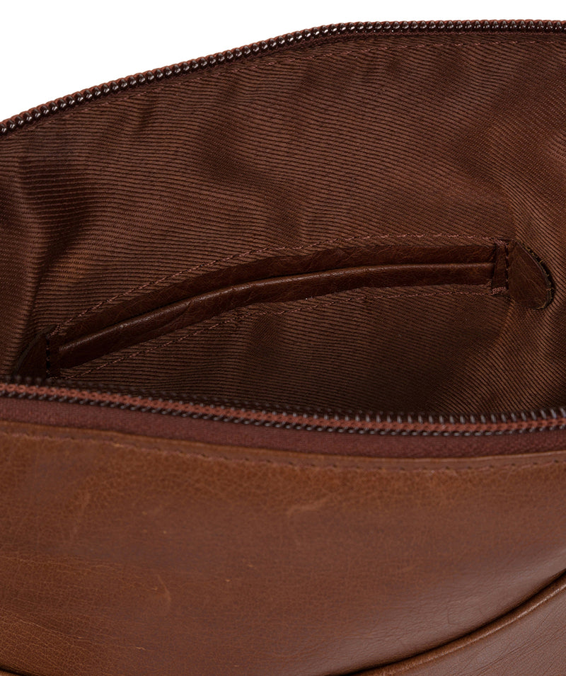 'Abberton' Conker Brown Leather Cross-Body Bag image 5