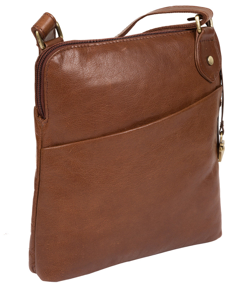 'Abberton' Conker Brown Leather Cross-Body Bag image 6