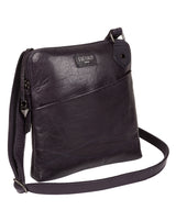 'Abberton' Navy Leather Cross Body Bag image 3