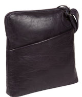 'Abberton' Navy Leather Cross Body Bag image 6