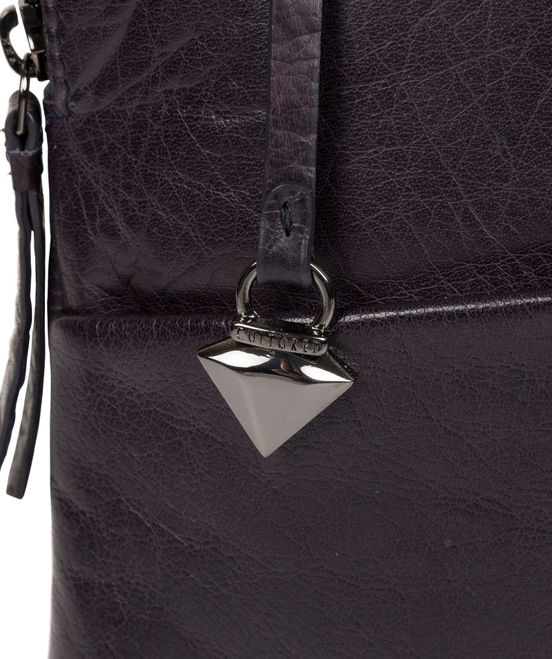 'Abberton' Navy Leather Cross Body Bag image 7