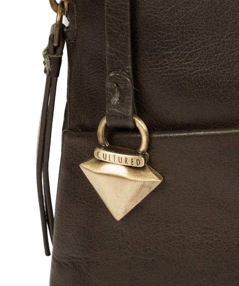 'Abberton' Olive Leather Cross Body Bag image 6
